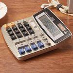 FUYUFU Calculatrice de Bureau à 12 Chiffres Calculette Fonction Standard Calculateur de Bureau Double Alimentation Calculatrice Solaire et Pile AA ( pile AA non inclus ) (DS-5500) de la marque image 1 produit