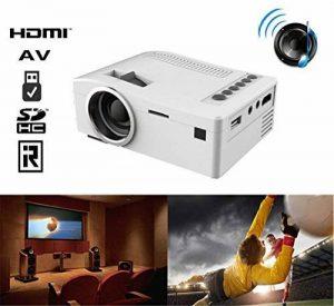 G-Anica® Mini LED 1080P Projecteur Portable 320 x 240 Projecteur Multimedia Vidéoprojecteur Home Cinéma AV,VGA,USB,SD,HDMI (Blanc) de la marque G-Anica image 0 produit