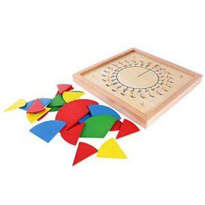 Gazechimp Jeux Educatif Montessori Fraction Matériel Mathématiques Tableau de Fraction Rond Jouet en Bois Cadeau Enfants de la marque Gazechimp image 0 produit