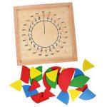 Gazechimp Jeux Educatif Montessori Fraction Matériel Mathématiques Tableau de Fraction Rond Jouet en Bois Cadeau Enfants de la marque Gazechimp image 1 produit
