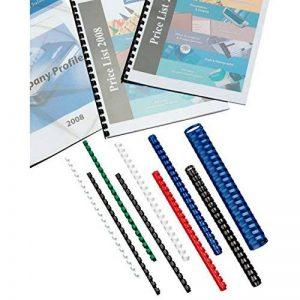 GBC - 100 Reliures à Spirales ComBind en Plastique - 8mm Format A4 - Bleu de la marque GBC image 0 produit