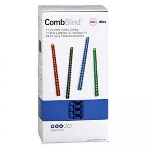GBC CombBind Pack de 100 Reliures spirale plastique 14 mm Bleu de la marque GBC image 0 produit