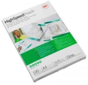 GBC Highspeed Pochettes de plastification A4 2x125mic, pack de 100 de la marque GBC image 0 produit