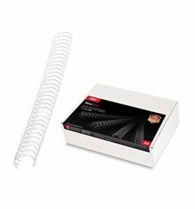 GBC Peignes métalliques WireBind, format A4, capacité 70 feuilles (8mm, blanc, lot de 100) de la marque GBC image 0 produit
