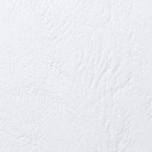 GBC Plats de couverture grain cuir LeatherGrain, format A4 (250g/m2, blanc, lot de 50 dont 25 avec fenêtre) de la marque GBC image 0 produit