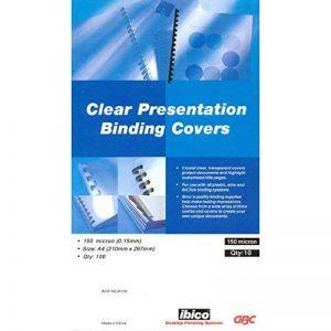 GBC Plats de Couverture HiClear, format A4 (150 microns, super transparent, lot de 100) de la marque GBC image 0 produit