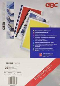 GBC Plats de Couverture HiClear, format A4 (180 microns, transparent, lot de 25) de la marque GBC image 0 produit