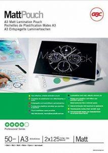 GBC Pochettes de plastification mates A3 2x125 microns, pack de 50 de la marque GBC image 0 produit