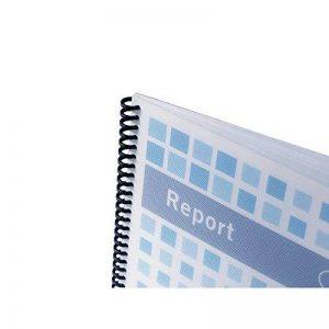 GBC PolyTechno Plats de couverture (700 mic, texturé blanc, pack de 50) de la marque GBC image 0 produit