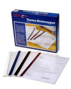 Genie 10258 Lot de 50 couvertures thermique 4 différents coloris et épaisseurs, format A4 compatibles avec tous les relieurs thermiques A4 de la marque Genie image 0 produit
