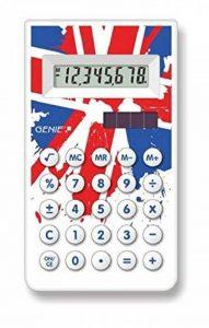 Genie 30CB Calculatrice de bureau - Affichage 8 chiffres - Motif Union Jack - blanc de la marque Genie image 0 produit