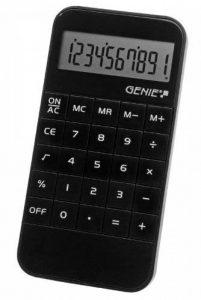 Genie Calculatrice compact Affichage 10 chiffres Design lisse Noir 40W de la marque Genie image 0 produit