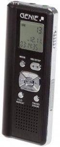 Genie vR - 700 dictaphone numérique uSB 4Go de mémoire sD et lecteur de cartes, grand écran lCD, 4 aufnahmequalitäten (noir) de la marque Genie image 0 produit