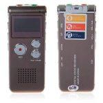 GH609 professionnel 8Go téléphonie LCD numérique enregistreur téléphonique Audio enregistreur enregistrement dispositif-Brun de la marque DIGITALS image 3 produit