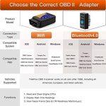 Globmall Trekpow OBD 2 Scanner OBD2 Bluetooth 4.0, outil de diagnostic moteur et lecteur de codes de pannes pour iOS, iPhone, iPad, Android et Windows, peut rester branché de la marque Globmall image 3 produit