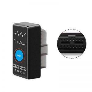 Globmall Trekpow OBD 2 Scanner OBD2 Bluetooth 4.0, outil de diagnostic moteur et lecteur de codes de pannes pour iOS, iPhone, iPad, Android et Windows, peut rester branché de la marque Globmall image 0 produit