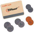 Grande caisse enregistreuse en bois de 30 pièces, caisse enregistreuse en bois massif avec pièces de monnaie, scanner et carte de crédit, ensemble RPG d'épicerie de la marque Top Race image 3 produit