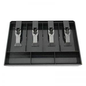 GUANHE Plastique Caisse enregistreuse Nouveau Classer magasin Pièce de caissier Tiroir caisse tiroir Tiroir plastique noir Grille Caisse (4 compartiments) de la marque GUANHE image 0 produit