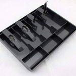 GUANHE Plastique Caisse enregistreuse Nouveau Classer magasin Pièce de caissier Tiroir caisse tiroir Tiroir plastique noir Grille Caisse (4 compartiments) de la marque GUANHE image 2 produit