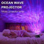 Gxzock télécommande Ocean Wave Vidéoprojecteur, clignotant Feu lampe de nuit avec lecteur de musique Intégré, 7Changement de couleur d'éclairage de mode, Choix Idéal pour bébé Chambre d'enfant Chambre à coucher Salon (Noir) de la marque GXZOCK image 1 produit