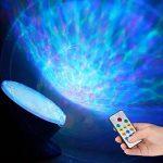 Gxzock télécommande Ocean Wave Vidéoprojecteur, clignotant Feu lampe de nuit avec lecteur de musique Intégré, 7Changement de couleur d'éclairage de mode, Choix Idéal pour bébé Chambre d'enfant Chambre à coucher Salon (Noir) de la marque GXZOCK image 4 produit