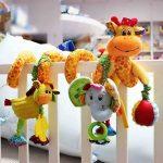 Happy Cherry-Spirale d'activités de Lit bébé Girafe Eléphant Jouets Poussettes pour Dormir siège bébé voiture Cadeaux Baby Bed Toy Activity-Spirale Stripes - Jaune de la marque Happy Cherry image 3 produit