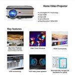 HD Vidéo Projecteur 4000 Haute Lumen Full HD 1080 P HDMI USB VGA 3.5mm Sortie Audio Multimédia LCD Cinéma Maison Projecteurs LED 50000hrs, avec 10W Haut-Parleur, Keystone Correcton, Fonction Zoom (Manuel Anglais et UK Plug) de la marque CAIWEI image 1 produit