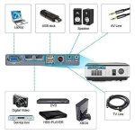 HD Vidéo Projecteur 4000 Haute Lumen Full HD 1080 P HDMI USB VGA 3.5mm Sortie Audio Multimédia LCD Cinéma Maison Projecteurs LED 50000hrs, avec 10W Haut-Parleur, Keystone Correcton, Fonction Zoom (Manuel Anglais et UK Plug) de la marque CAIWEI image 4 produit