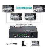 HDMI Switch 1x4 (1 Entrée 4 Sorties), Wrcibo Numérique HDMI Splitter Distributeur avec Full HD 1080P 4K*2K, 3D etc - Noir de la marque Wrcibo image 3 produit