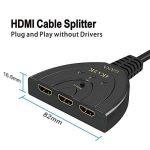 HDMI Switch 4k | GANA 3-Port HDMI Splitter Cable | Hdmi Câble Commutateur Prend en Charge 4K/1080P/3D Pour Xbox / PS3 / PS4 / Apple TV / Roku / Fire TV / Blue-Ray DVD Player de la marque GANA image 2 produit