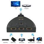 HDMI Switch 4k   GANA 3-Port HDMI Splitter Cable   Hdmi Câble Commutateur Prend en Charge 4K/1080P/3D Pour Xbox / PS3 / PS4 / Apple TV / Roku / Fire TV / Blue-Ray DVD Player de la marque GANA image 1 produit