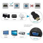 HDMI vers VGA 1080P Plaqué d'Or Mâle à Femelle Câble Adaptateur Convertisseur Hdmi Vga pour Chromebook, Ordinateur Portable, PC, Raspberry Pi,TV BOX, Ultrabook, - Noir de la marque Chnano image 2 produit
