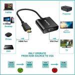 HDMI vers VGA,Techole Adaptateur HDMI Mâle vers VGA Femelle,Convertisseur HDMI vers VGA 1080p avec Audio et Micro Câble USB pour PC, Ordinateur Portable,HDTV Projecteurs,PS4/3 XBox et Autres Périphériques D'entrée HDMI de la marque Techole image 2 produit