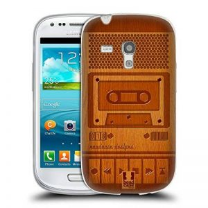 Head Case Designs Magnétophone Gadget en Bois Étui Coque en Gel Molle pour Samsung Galaxy S3 III Mini de la marque Head Case Designs image 0 produit