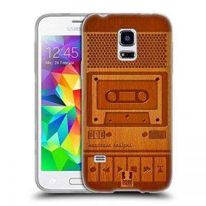 Head Case Designs Magnétophone Gadget En Bois Étui Coque en Gel molle pour Samsung Galaxy S5 mini de la marque Head Case Designs image 0 produit