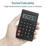 Helect Calculatrice Design Compact Fonction Standard, Poche Portable, Noir de la marque Helect image 2 produit