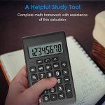 Helect Calculatrice Design Compact Fonction Standard, Poche Portable, Noir de la marque Helect image 4 produit