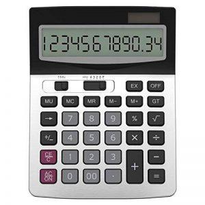 Helect H1006 Calculatrice de Bureau à 12 Chiffres, Fonction Standard d'affaires Calculateur de Bureau, Argent de la marque Helect image 0 produit