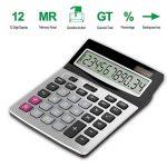 Helect H1006 Calculatrice de Bureau à 12 Chiffres, Fonction Standard d'affaires Calculateur de Bureau, Argent de la marque Helect image 4 produit