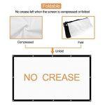HENZIN Écran de Projection 100 Pouces 16:9 HD 4K Portable et Pliable pour cinéma Maison, en intérieur ou en extérieur, Frontale ou par Transparence,224.5×131cm de la marque HENZIN image 2 produit