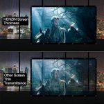 HENZIN Écran de Projection Pliable et Portable 120 Pouces 270×153cm 16:9 HD 4K Toile pour Cinéma Maison, en intérieur ou en extérieur, Frontale ou par Transparence de la marque HENZIN image 4 produit