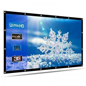 HENZIN Écran de Projection Pliable et Portable 120 Pouces 270×153cm 16:9 HD 4K Toile pour Cinéma Maison, en intérieur ou en extérieur, Frontale ou par Transparence de la marque HENZIN image 0 produit