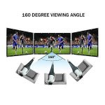 HENZIN Écran de Projection Portable 16:9 231x135cm Toile Blanc Vidéoprojecteur 3D HD en PVC Format Pliable pour Cinéma Maison, Intérieur ou Extérieur 100 Pouces de la marque HENZIN image 1 produit