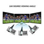 HENZIN Écran de Projection Portable 16:9 231x135cm Toile Blanc Vidéoprojecteur 3D HD en PVC Format Pliable pour Cinéma Maison, Intérieur ou Extérieur 100 Pouces de la marque image 1 produit