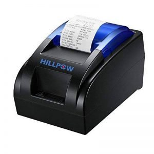 HILLPOW Imprimante Thermique de réception de 58MM USB, Impression à Haute Vitesse 90mm / Sec, Compatible avec Les Commandes d'impression d'ESC/POS fixées-EU de la marque HILLPOW image 0 produit