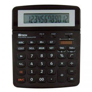 Hitech C1522BL Calculatrice de Bureau 12 chiffres Noir de la marque Hitech image 0 produit