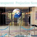Hoho Rear Projection Film adhésif Transparent holographique Vidéoprojecteur Matériau d'écran film pour fenêtre Stickers, transparent, 152cmx500cm de la marque HOHO image 2 produit