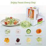 HOMMINI Coupe légumes Spirale en Plastique 3 dans 1, Lames Interchangeables, Spiraliseur, Trancheur Spaghetti pour Fruit, Salade et Pâte de la marque HOMMINI image 3 produit