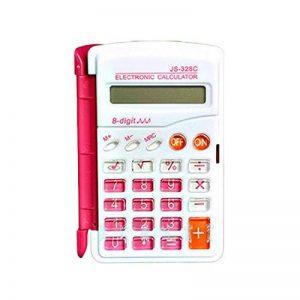 HONGYUANZHANG Calculatrice De Bureau Mini Calculatrice Scientifique Fonction De Calculatrice D'Horloge Multifonction (6X10Cm), Rouge de la marque HONGYUANZHANG image 0 produit