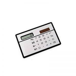 HONGYUANZHANG Calculatrice Portable Mini Ordinateur De Poche Ultra-Mince Calculatrice De Papeterie Carte Solaire Power Calculatrice De Poche Petit Voyage Mince (85 X 55 X 2Mm), Argenté de la marque HONGYUANZHANG image 0 produit